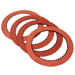 TH400 INTERMEDIATE CLUTCH PLATE KIT (4), RED SMOOTH