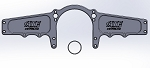 SBC MOTOR PLATE OFFSET (32 INCHES WIDE) (FITS MUSTANG)