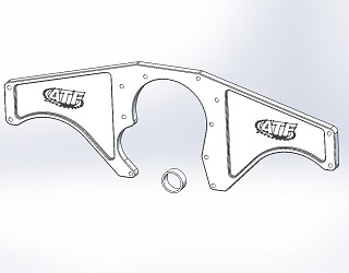 BBF 3/4 Mustang Turbo Front Engine Plate