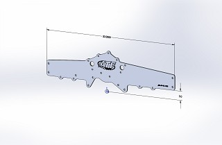 SBF 1/4 Mustang Front Engine Plate - 94-95 Timing Cover (Offset)