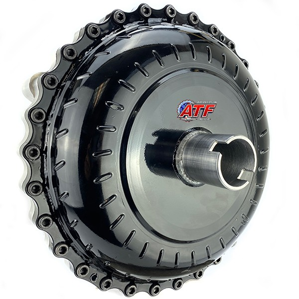 "GM 9.5"" Race Converter - Furnace Brazed,  Steel Stator, Mechanical Diode, Aluminum Bolt Together"